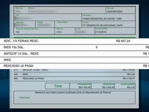 Documento da prefeitura mostra valores de indenização indicados, em Passos (Foto: Reprodução EPTV)