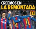 """Jornais se animam com goleada do Barça e mandam recado ao PSG: """"Acreditamos"""""""