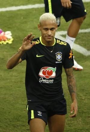 Neymar treino seleção Natal (Foto: Alexandre Lago/GloboEsporte.com)