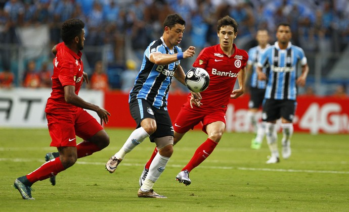 Giuliano Grêmio x Inter (Foto: Lucas Uebel/Divulgação Grêmio)