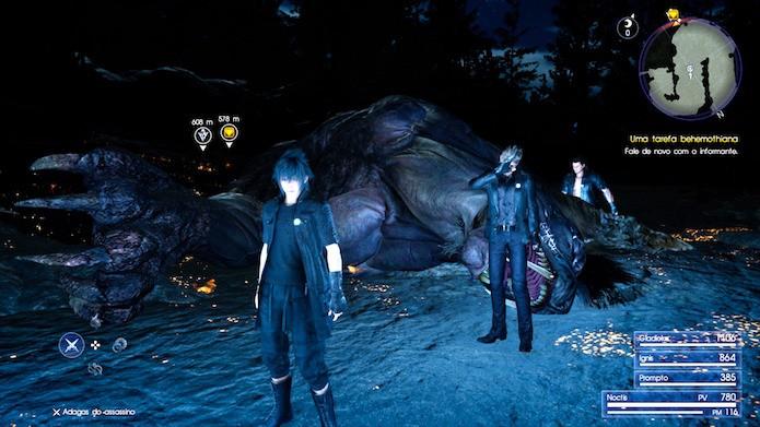 Final Fantasy XV: saiba como usar magia para exterminar poderosas criaturas (Foto: Reprodução/Victor Teixeira)