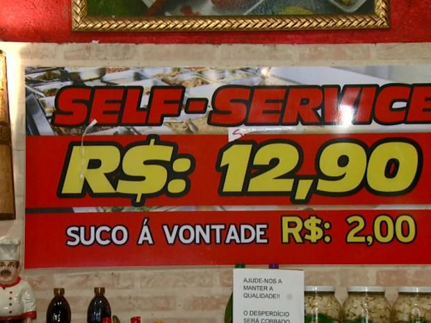 Restaurante de Campinas reduz preço do quilo da comida para não ter prejuízo  (Foto: Reprodução EPTV)