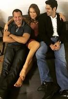 'Haja Coração': Mariana Ximenes posa com Malvino e Baldasserini