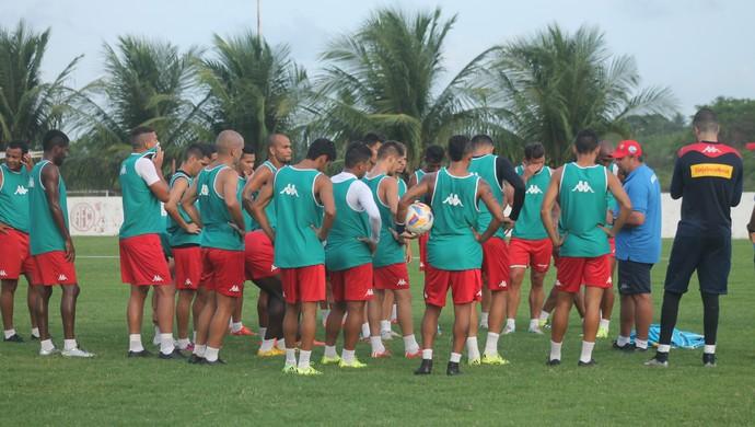 Jogadores do América-RN (Foto: Canindé Pereira/Divulgação)