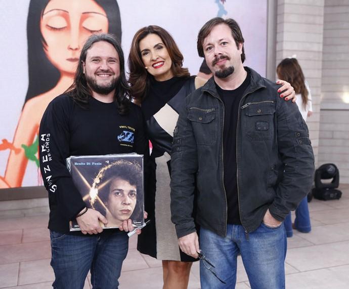 Fátima com os convidados que participaram do quadro 'Criativos na Crise' (Foto: Fábio Rocha/Gshow)