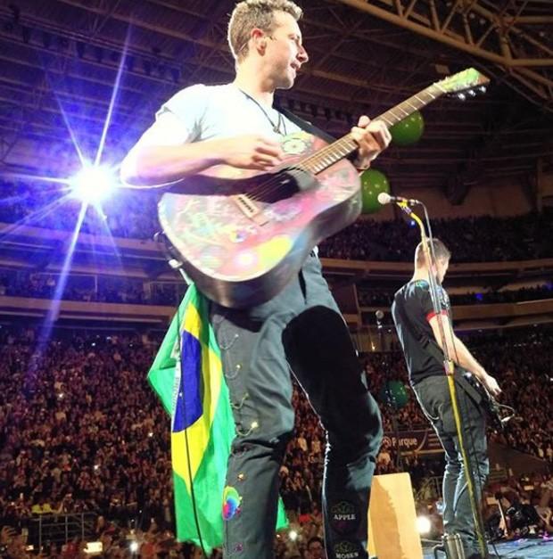 Coldplay fez show em São Paulo (Foto: Reprodução/Instagram)