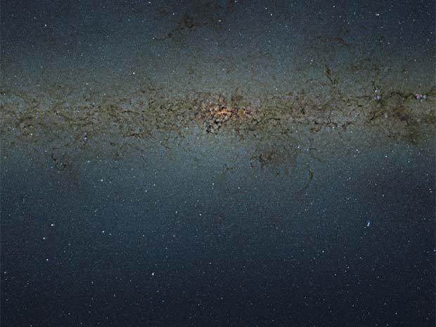 Imagem mostra o Centro da Via Láctea (Foto: ESO/Divulgação)