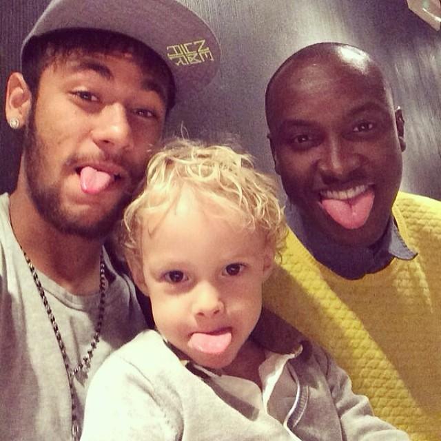 Neymar, Davi Lucas e Thiaguinho  (Foto: Instagram / Reprodução)
