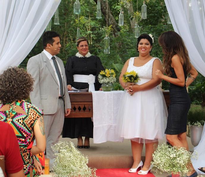 Realizada com a cerimônia, Vanessa comenta: 'Coração disparado' (Foto: Maria Eduarda/Gshow)