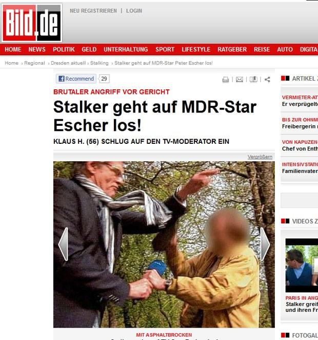 Homem é acusado de atacar o repórter alemão Peter Escher. (Foto: Reprodução/Bild)