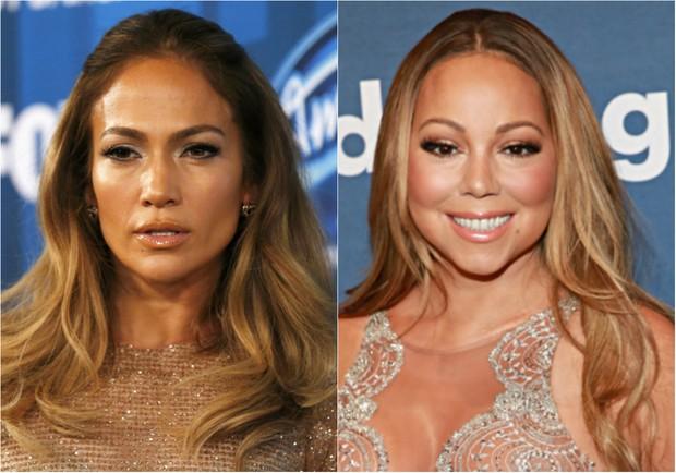 Jennifer Lopez e Mariah Carey (Foto: Getty Images)