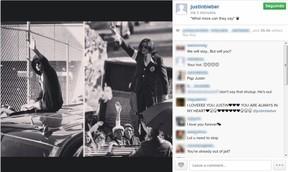 Foto do instagram de Justin Bieber (Foto: Instagram / Reprodução)