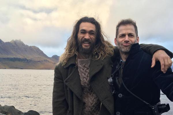 Jason Momoa com o diretor Zack Snyder (Foto: Instagram)