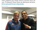 """David Braz encontra Oswaldo de Oliveira e agradece: """"Respeito imenso"""""""