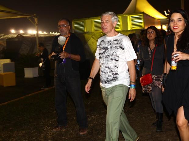 Adam Clayton, baixista do U2, no Lollapalooza (Foto: Iwi Onodera/EGO)