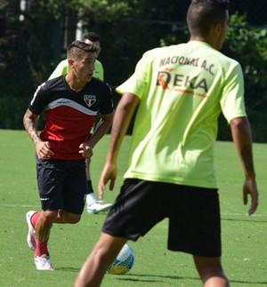 Centurion treino São Paulo (Foto: Divulgação / site oficial São Paulo)