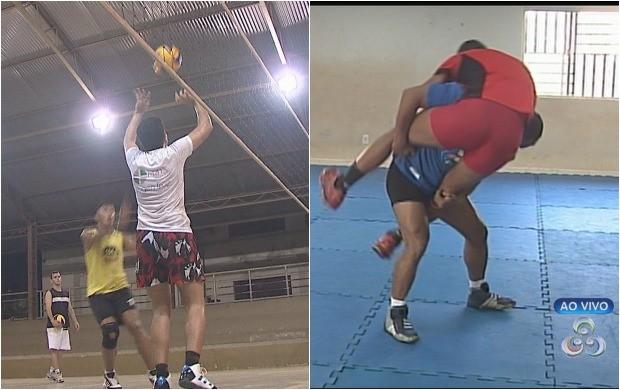 Luta olímpica a voleibol foram destaques no momento esporto do Bom Dia Amazônia (Foto: Bom Dia Amazônia)