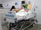 Jovem baiano de 280 kg deixa UTI e é transferido para quarto de hospital