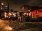Ônibus é incendiado na Zona Sul de São Paulo na noite deste sábado