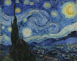 A Noite Estrelada – Van Gogh (1889) – Impressionismo (Foto: Reprodução)