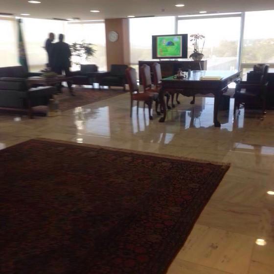 Gabinete está pronto para receber o presidente Michel Temer (Foto: Reprodução)