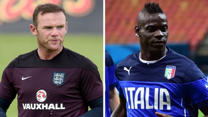 Montagem Rooney x Balotell (Foto  Montagem sobre foto da Guetty Images) 78b8e2ec639e2