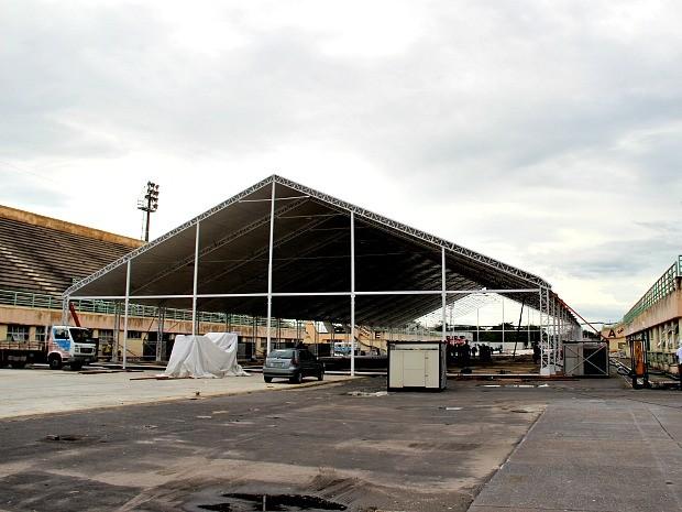 Sambódromo de Manaus vai abrigar o centro de mídias de Manaus para Copa (Foto: Silvio Lima)