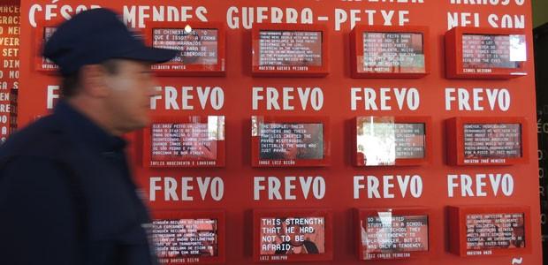Visitante verá depoimentos sobre frevos em 51 telinhas (Foto: Kety Marinho/ TV Globo)