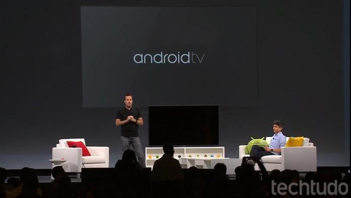 No Android TV, tudo pode ser ativado por voz (Foto: Reprodução / Google)