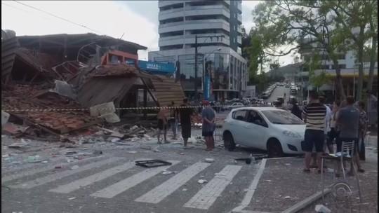 Explosão destrói padaria e restaurante em São João Batista