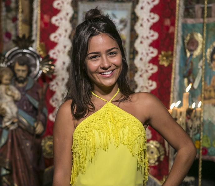 Giullia Buscacio revela que não é brasileira  (Foto: Inácio Moraes/Gshow)