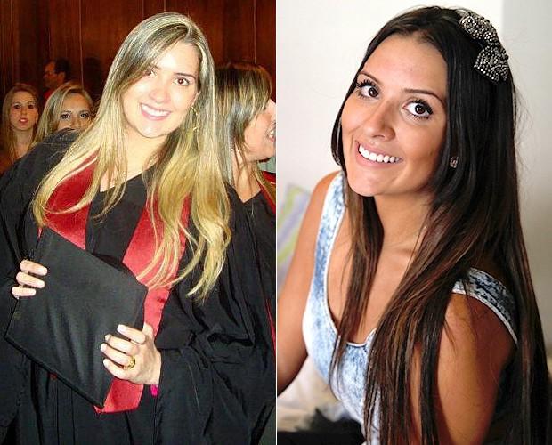 Tamires antes e depois (Foto: Arquivo Pessoal e Leonardo Viso/Gshow)