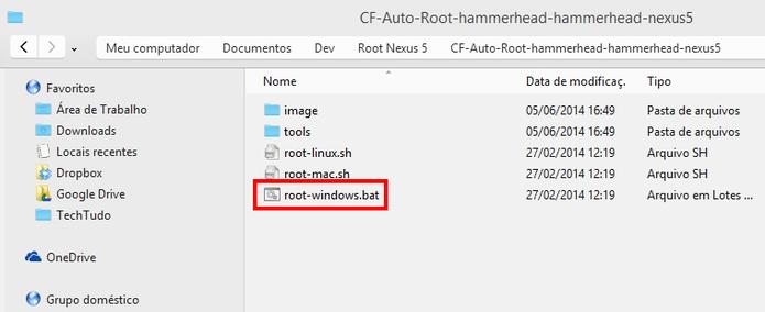 Dê duplo-clique no arquivo executável BAT para fazer o root (Foto: Reprodução/Paulo Alves)