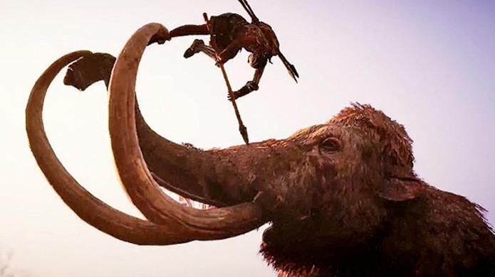 Missões extras na edição de colecionador de Far Cry Primal permitem controlar um mamute (Foto: Reprodução/Eurogamer)