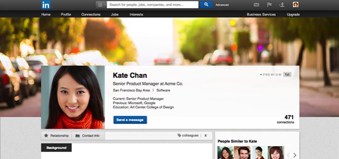 Novo perfil do LinkedIn tem foto de capa, assim como Twitter e Facebook (Foto: Divulgação/LinkedIn) (Foto: Novo perfil do LinkedIn tem foto de capa, assim como Twitter e Facebook (Foto: Divulgação/LinkedIn))