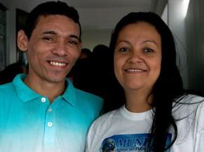 Francisco e Jane se casaram na Ação Global RJ (Foto: Divulgação/Eduardo Tchelo)