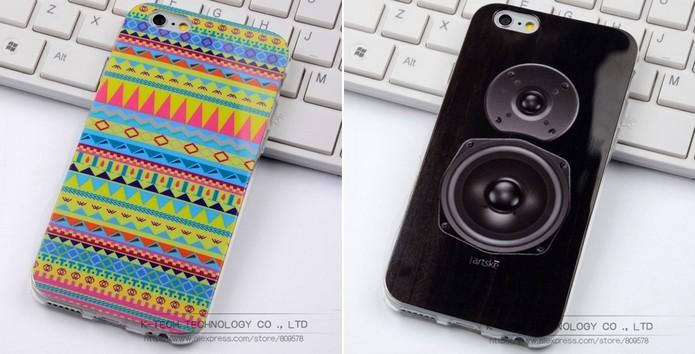 Capinhas baratas para iPhone 6 com diversas estampas (Foto: Divulgação/Ali Express)