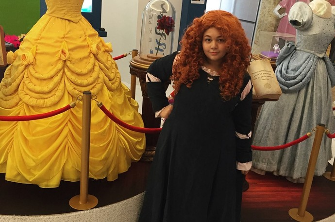 Amanda Lampert The Voice Kids cantar como cosplay merida valente disney (Foto: Arquivo Pessoal)