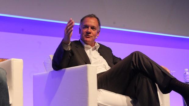 Mike Rodhin, vice-presidente da IBM para o Watson, durante o CEO Summit 2016 (Foto: Divulgação)