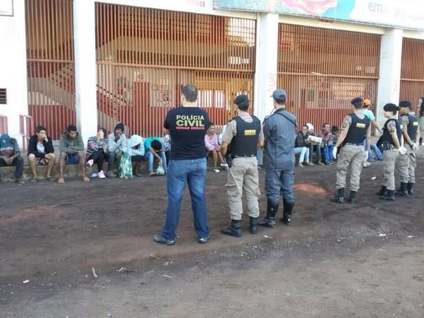 Operação Fênix II realizada em Divinópolis (Foto: Polícia Militar/ Divulgação)