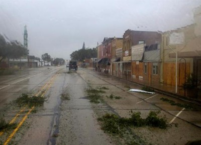 furacao harvey-texas-houston-eua (Foto: Dpt Militar do Texas/Tim Puitt/EPA/EFE)