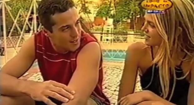Susana Werner e Julio Cesar em 2001 (Foto: Video/Reprodução)