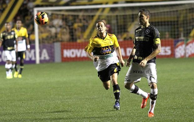 Morais e Bolívar jogo Criciúma e Botafogo (Foto: Fernando Ribeiro / Futura Press)