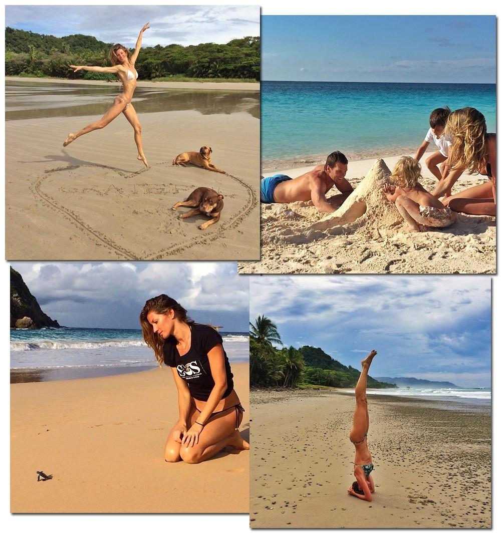 Gata de areia: o descanso na praia é imagem frequente no perfil da top (Foto: Getty Images)