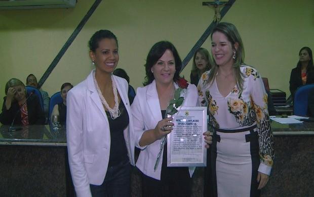 Maríndia Moura recebe homenagem 'Moção de Aplauso' em Porto Velho (Foto: Bom Dia Amazônia)