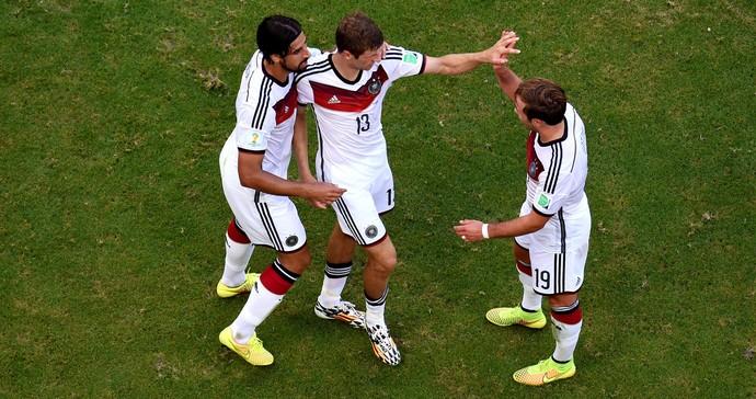Thomas Muller Khedira e Gotze alemanha gol Portugal Arena Fonte Nova (Foto: Agência Reuters)