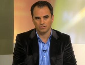 Rodrigo Caetano, diretor do Fluminense, no Redação SporTV (Foto: Reprodução SporTV)