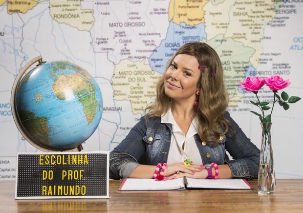 Fernanda Souza como Tati para o remake da Escolinha do Professor Raimundo (Foto: Globo/João Miguel Júnior)