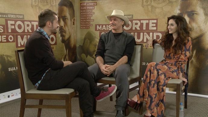 Moacya Massulo entrevista elenco de filme sobre José Aldo (Foto: Rede Amazônica)