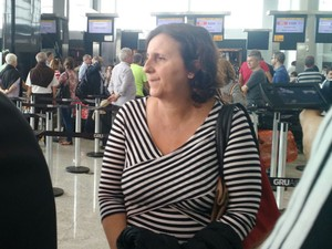 Patrícia Santos, mãe de Gabriel Sepe (Foto: Luiza Tenente/G1)